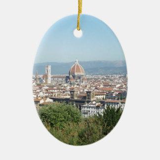 (Het Nieuwe) Vierkant van Italië Florence Duomo Keramisch Ovaal Ornament