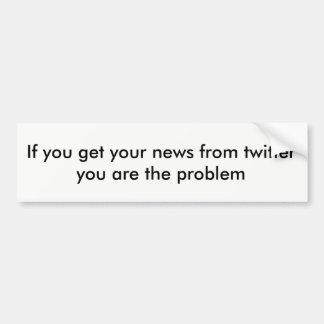 Het nieuws van de tjilpen bumpersticker