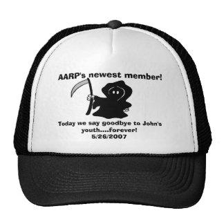 Het nieuwste lid van AARP! , Vandaag zeggen wij… v Petten Met Netje