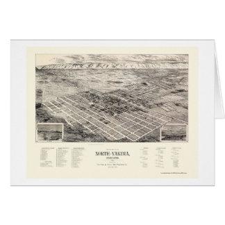 Het noorden Yakima, Panoramische Kaart WA - 1889