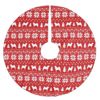 Het Noorse Patroon van Kerstmis van Silhouetten Kerstboom Rok
