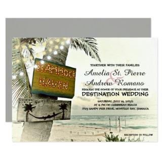 Het nostalgische Huwelijk van het Strand van de Kaart