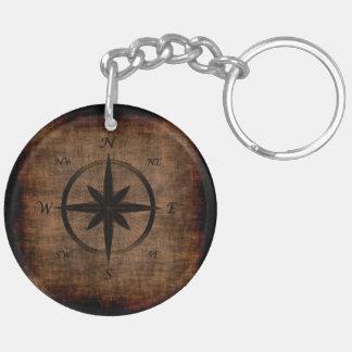 Het nostalgische Oude Kompas nam Ontwerp toe Sleutelhanger