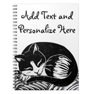 Het Notitieboekje van de Douane van de Kat van de Ringband Notitieboek