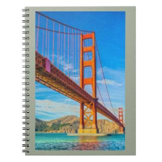 Het Notitieboekje van de Foto van golden gate Ringband Notitieboek