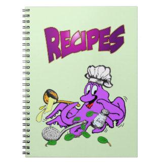 Het Notitieboekje van de Foto van het Recept van Notitieboek