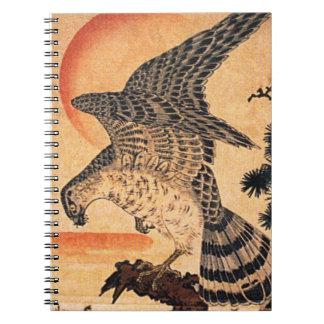 Het Notitieboekje van de Havik van Kuniyoshi Ringband Notitieboek