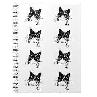 Het Notitieboekje van de Kat van de smoking Ringband Notitieboek