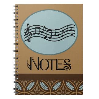 Het Notitieboekje van de musicus Ringband Notitieboeken