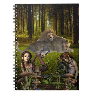 Het Notitieboekje van de Scène van het Bos van het Ringband Notitie Boeken