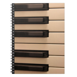 Het Notitieboekje van de Sleutels van de piano Notitie Boek