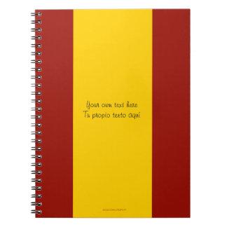 Het Notitieboekje van de Vlag van Spanje Ringband Notitieboek