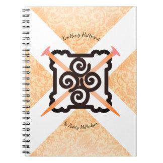 Het notitieboekje van het de breisterspatroon van ringband notitieboek