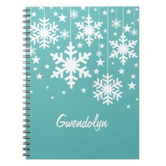 Het Notitieboekje van sneeuwvlokken en van Ringband Notitieboek