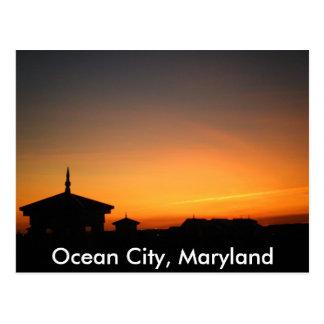 Het oceaan Briefkaart van het Uitzicht van de Stad