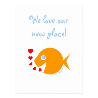 Het oceaan Meer Humoristische water-Themed van het Briefkaart