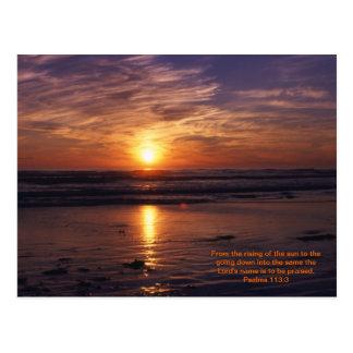 Het oceaan vers van de zonsondergangbijbel briefkaart