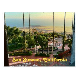 Het OceaanUitzicht van San Simeon Briefkaart
