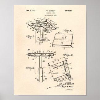 Het Octrooi Kunst Oude Peper van de Basis 1953 van Poster
