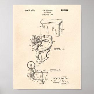 Het Octrooi Kunst Oude Peper van de Kom 1936 van Poster