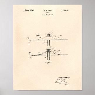 Het Octrooi Kunst Oude Peper van het klankbekken Poster