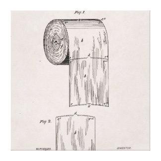 Het Octrooi Nr 465.588 van het toiletpapier door Canvas Afdruk