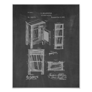 Het Octrooi van de keukenkast - Bord Poster