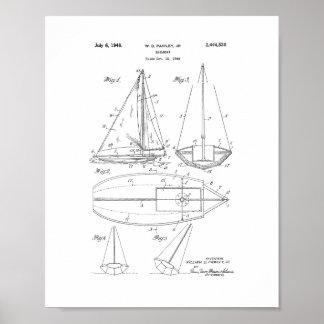 Het Octrooi van de zeilboot Poster