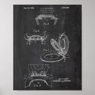 Het Octrooi van het Broodje van het toiletpapier Poster