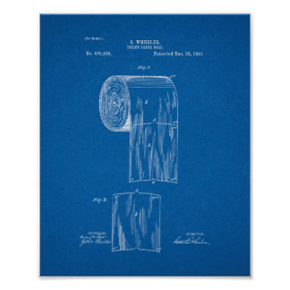 Het Octrooi van het Broodje van het toiletpapier - Poster