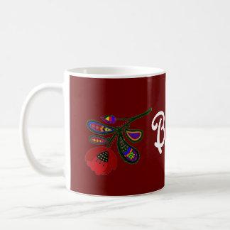 Het Oekraïense VolksArt. van de papaver Koffiemok