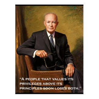 Het officiële portret van Dwight_D. _Eisenhower Briefkaart