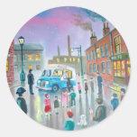 Het olieverfschilderij van de Bestelwagen van het Ronde Stickers