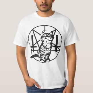 Het omgekeerde Katje van het Kruis & Pentacle T Shirt