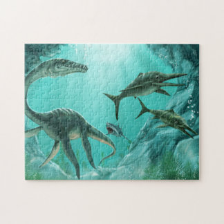 Het onderwater Raadsel van de Dinosaurus Legpuzzel