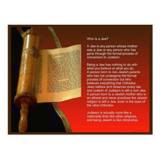 Het onderwijs, Godsdienst, Judaïsme, Who is een Briefkaart