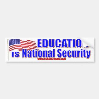 Het onderwijs is Nationale Veiligheid Bumpersticker