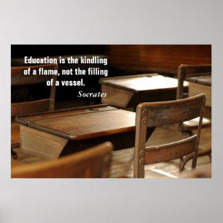 Het onderwijs is…. poster