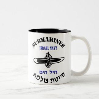 Het Onderzeese Licht van de Dienst IDF Tweekleurige Koffiemok
