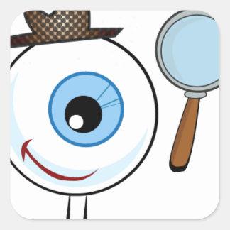 Het Onderzoek van het oog Vierkante Sticker