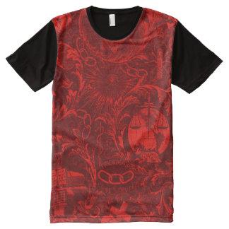 Het oneven Overhemd van het Tapijtwerk van All-Over-Print T-shirt
