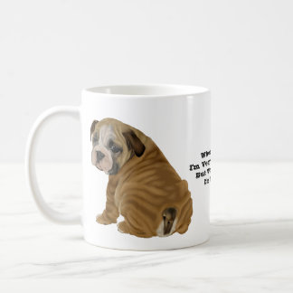 Het ongehoorzame Engelse Puppy van de Buldog Koffiemok