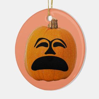 Het Ongelukkige Gezicht van de Lantaarn van de Rond Keramisch Ornament