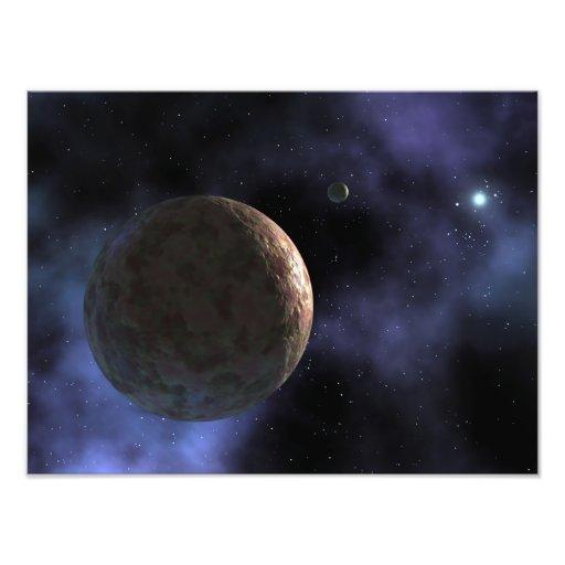 Het onlangs ontdekte planeet-als voorwerp foto afdrukken