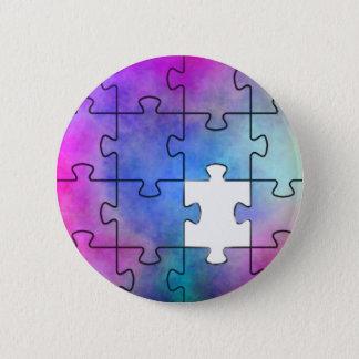 Het Ontbrekende Stuk van het autisme - Speld Ronde Button 5,7 Cm