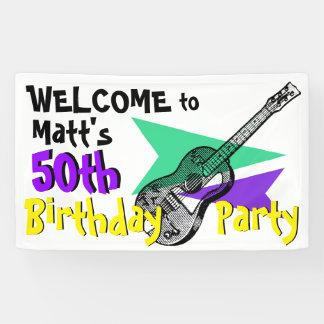 Het Onthaal van de gitaar aan de 50ste Banner van