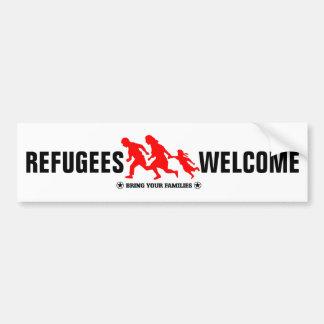 Het Onthaal van vluchtelingen brengt Uw Families Bumpersticker