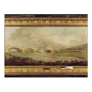 Het onthullen van Pont DE Neuilly, 1772 Briefkaart