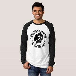 Het ontspannen Geschikte Zwart-witte Lange T-shirt