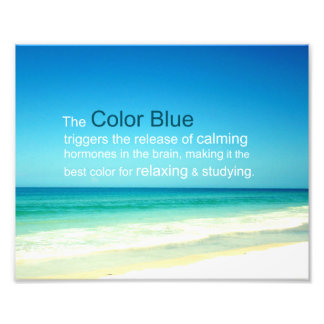 Het ontspannende Kalmerende Blauw van de Kleur van Foto Afdruk